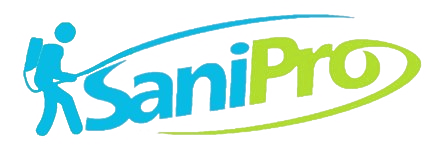 SaniPro Sanitizing Logo Transparent